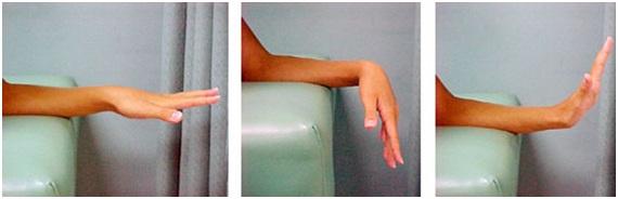 خم و راست کردن مچ دست